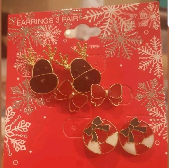 6f2db5795c652 Trio Christmas Earrings NWT